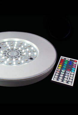 Maxcolor Remote Control LED Light Bases, 10 inch