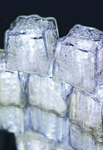 8 White LED Ice Cubes Submersible