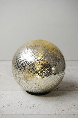 "LED Mercury Glass Sphere 7.5"""