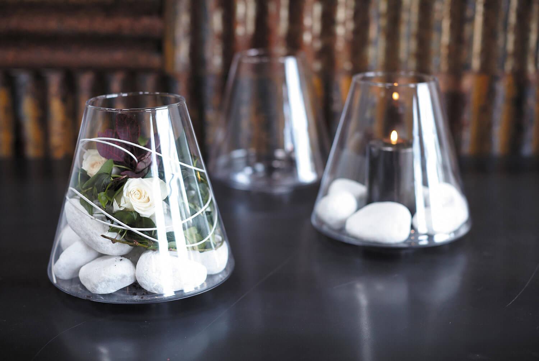 Glass Hurricane Vase, Lightshade Vase