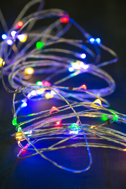 Micro LED Light String 17.5ft 50 LED Multicolor
