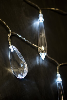 Crystal String Lights, Battery Op.,