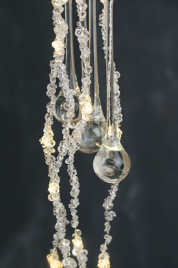 Crystal String Lights with Glass Crystal Drops, Backdrop Lights