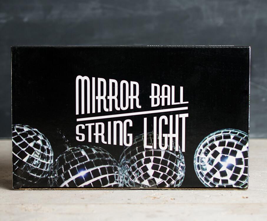 Mirror Ball String Lights 12CT   Battery Op