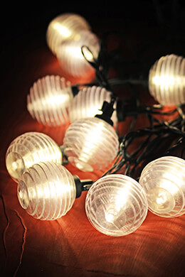 Solar Lantern String Lights Patio Set