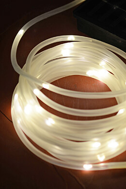 Solar Rope Lights Warm White 16.5 Feet