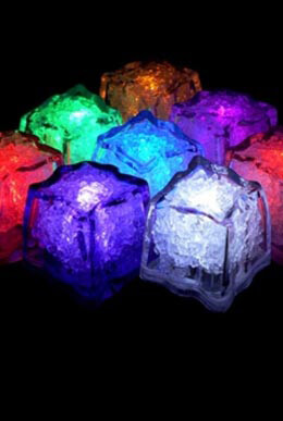 8 Submersible RGB LED Ice Cubes 8 Modes Color Changing