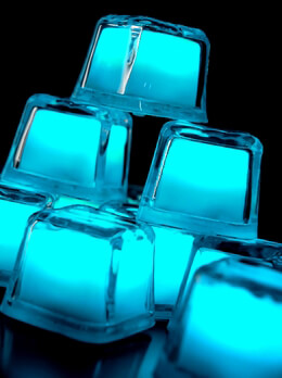 Light Up Ice Cubes Turquoise (12 cubes)