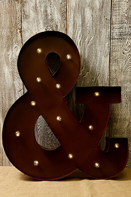 Lighted Ampersand 23.7in