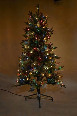 5 Foot Lighted Pine Christmas Tree