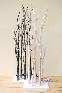 Lighted Tabletop Birch Trees (Set of 2)