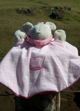 Lila Mouse Baby Lovey Moulin Roty
