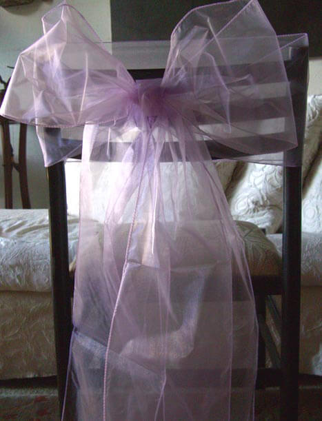 10 Lilac Organza Chair Sashes