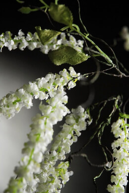 "Lily of the Valley Flowers 34"" Branch"