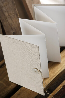 Linen Accordion Photo Book