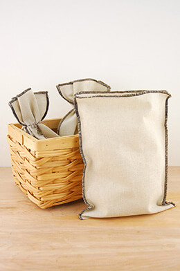 Linen Bags Brown 7.75x10in (Pack of 12)