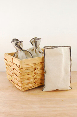 Linen Bags Brown 5x7.5in (Pack of 12)