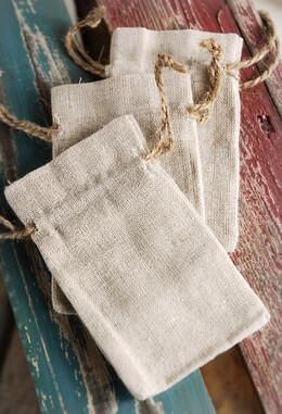 Linen Bags Drawstring 3x5 (12 bags)