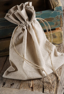 Linen Favor Bags with Drawstring 10in x 12in (Pack of 12)