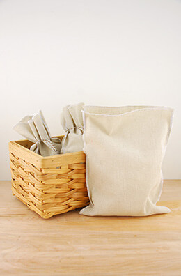 Linen Bags White 7.75x10in (Pack of 12)