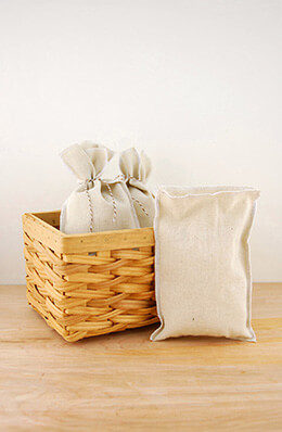 Linen Bags White 5x7.5in (Pack of 12)