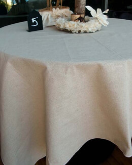 "Linen Fabric Table Cloth 54"" x 54"" Hemmed"