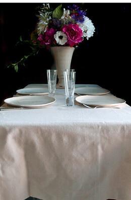 "Linen Fabric Table Cloth 54"" x 54"" Hemmed"