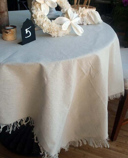 "Linen Table Cloth with Fringe Edge (54"" x 54"")"