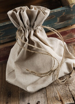12 Large 12 x14  Linen Drawstring Bags
