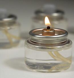 Liquid Wax Fuel Cells Clear Candle