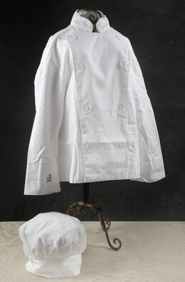 Little Cooks Chef Hat and Jacket (size 6-8)