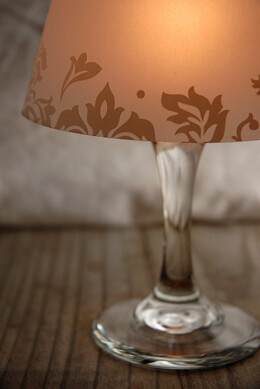 Luminaria Wine Glass Lamp Shades (4 shades) Vintage Design