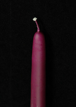 "Magenta 15"" Taper Candles (12 Pack)"