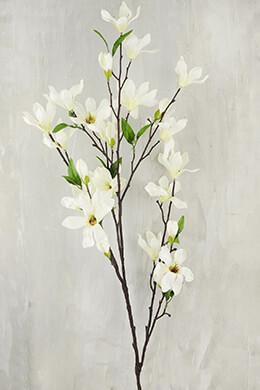 """Magnolia Flowering Branches Cream Flowers 44"""""""