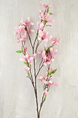 """Pink Flowering Magnolia Branches 44"""""""