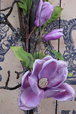 Magnolia Spray Lavender 30in