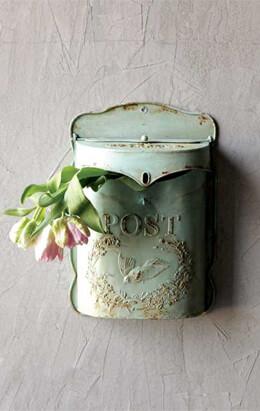 Embossed Tin Letter Box
