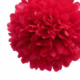 Tissue Paper Pom Poms Red 20in | Pack of 4