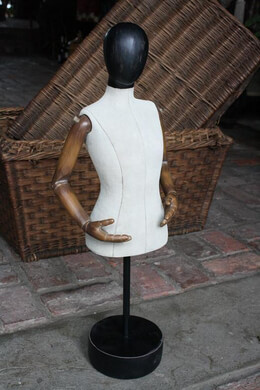 "Mannequin 24.5"" Soft Body Form on Stand"