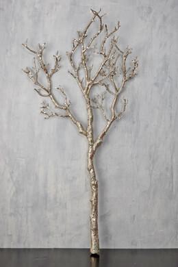 Manzanita Branch Silver Glitter 35in