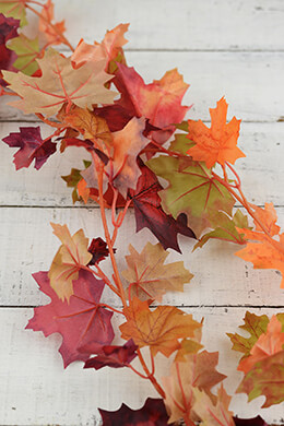 Maple Leaf Garland 6ft (Pack of 12)