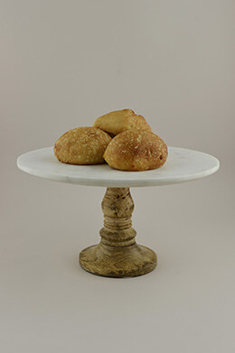 Marble Cake Stand 12in