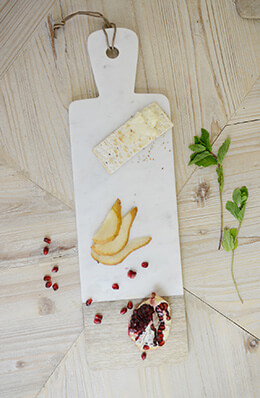 Marble & Wood Cheese Board 6x20in