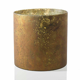 Marbled Candle Holder Copper 9.75x9.75in