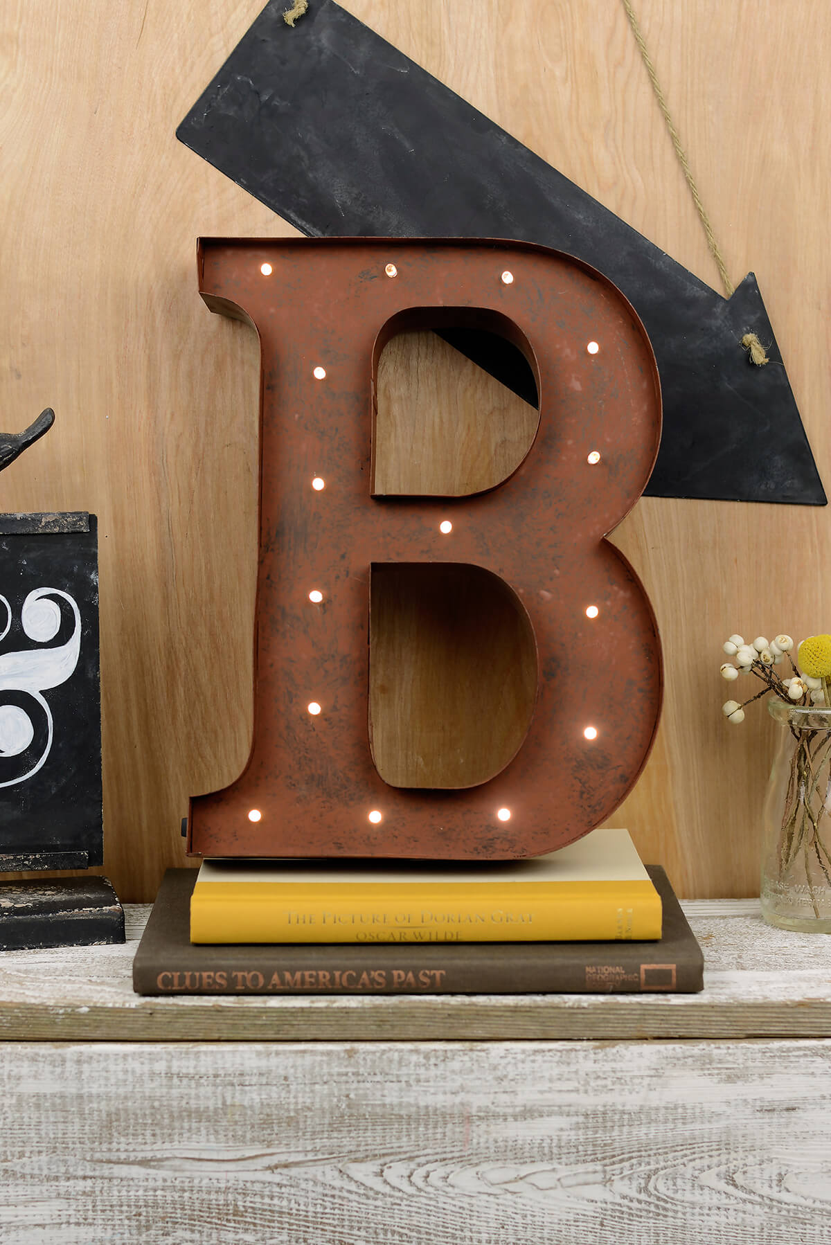 Marquee letter b 12in battery operated 17 warm white led for B marquee letter