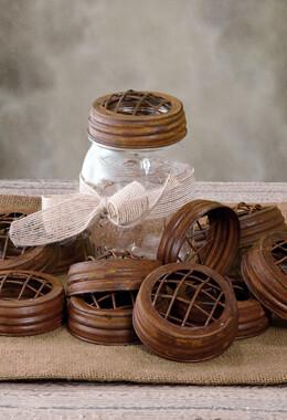 12 Rustic Mason Jar Frog Lids for Quart/16 oz. Mason Jars
