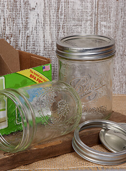 Mason Jars Wide Mouth - Pint (Pack of 12)