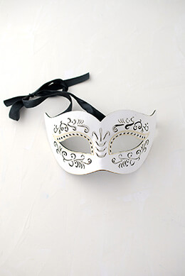 Masquerade Mask White