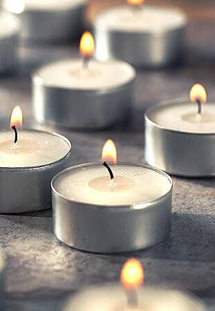 8 Mega Tea Lights Candles - 12 hour burn