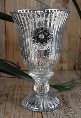 Mercury Glass Chalice Vase Candleholder